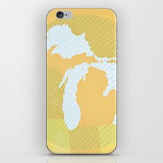 The GREAT LAKES of NORTH AMERICA iPhone & iPod Skin