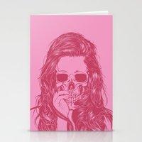 Skull Girl 1 Stationery Cards