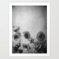 Falling Flowers Variatio… Art Print