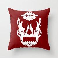 Bloodlust Skull Throw Pillow