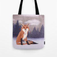 Lone Fox Tote Bag