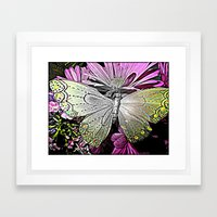 Butterfly Garden  Framed Art Print