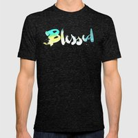 Blessed Mens Fitted Tee Tri-Black SMALL