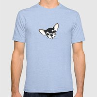 Zoe The Chihuahua Mens Fitted Tee Tri-Blue SMALL