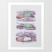 Golf Buddies Art Print