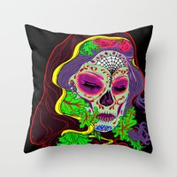 Darlin' Of The Dead Throw Pillow