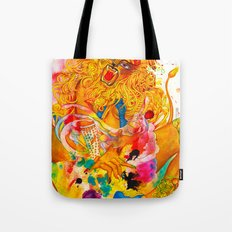 Leo: The Proud Lion (July 23 - August 22) / Gouache Original A4 Horoscope Illustration / Painting Tote Bag