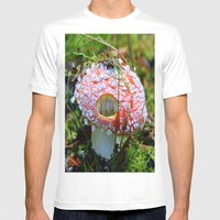 Killer Mushroom Mens Fitted Tee White SMALL