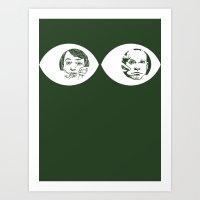 Peepers - Peep Show Art Print