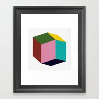 Rhombic Framed Art Print