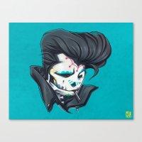 SLICK paint Canvas Print