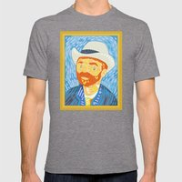 Selfie Van Gogh Mens Fitted Tee Tri-Grey SMALL