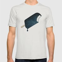 Space Melter Mens Fitted Tee Silver SMALL