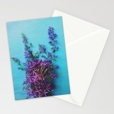 She Found Stray Flowers and Brought Them Home Stationery Cards