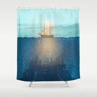 The Underwater City Shower Curtain