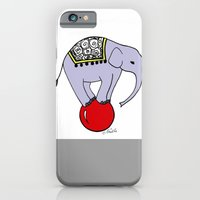 iPhone & iPod Case featuring Circus Elephant by christennoelle