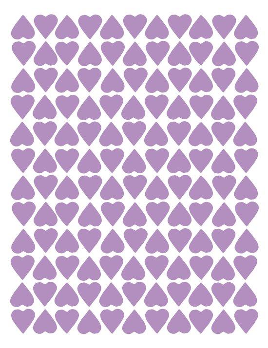 Diamond Hearts Repeat O Art Print