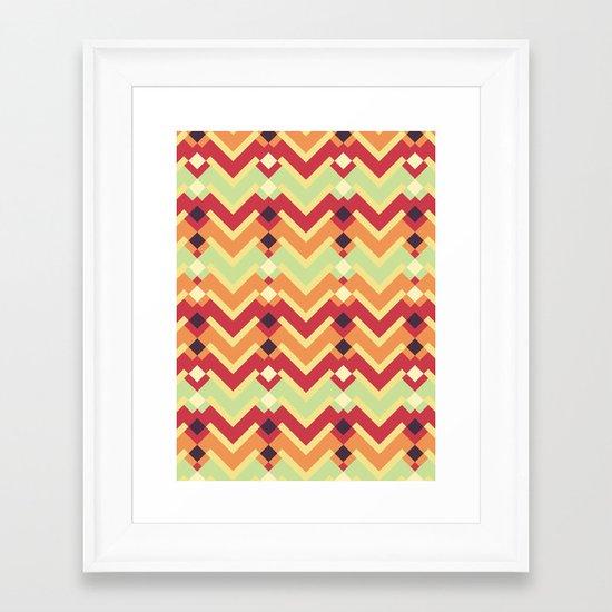 Fractal mountains - salad Framed Art Print