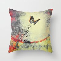 Waterfly III Throw Pillow
