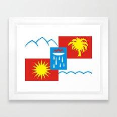 Sochi Flag - Authentic V… Framed Art Print