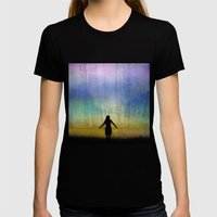 See Beyond Womens Fitted Tee Black SMALL