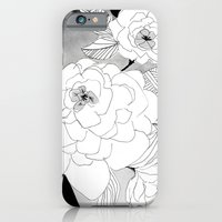 iPhone Cases featuring Black and white Floral by Crystal ★ Walen