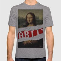 MONA LISA RELOADED Mens Fitted Tee Athletic Grey SMALL