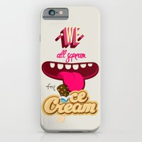 iPhone & iPod Case featuring We All Scream For Ice Cream by DesignDinamique