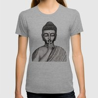 BUDDHA Womens Fitted Tee Athletic Grey SMALL