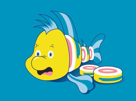 Flounder Sushi Art Print