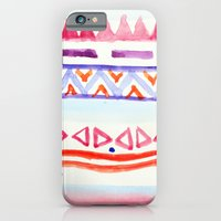 iPhone & iPod Case featuring Watercolour Aztec by Michaela Palmer