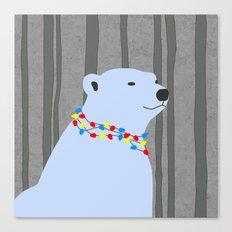 Holiday Season Polar Bear Canvas Print