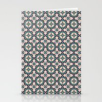 Cute Blue Retro Elegant … Stationery Cards