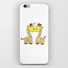 Giraffes in Love iPhone & iPod Skin