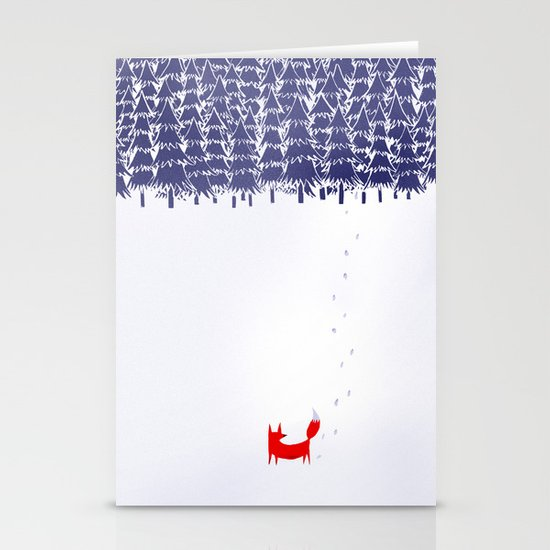 Alone in the forest Stationery Card