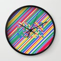 Color Stripes Wall Clock