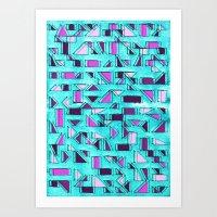 Angular Dimension Art Print