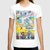 Buddha Womens Fitted Tee White SMALL