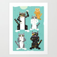 Cats I have known Art Print