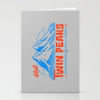 Visit Twin Peaks (orange) Stationery Cards