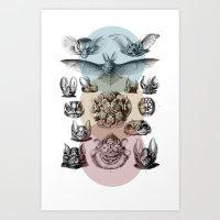 Spectrum Bats Art Print