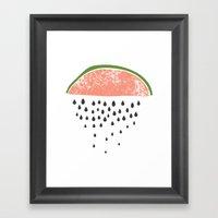 Watermelon Raining Seeds… Framed Art Print