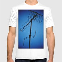 Wires Crossed Mens Fitted Tee White SMALL