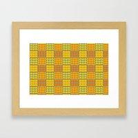 Hob Nob Orange Quarters Framed Art Print