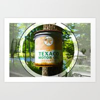 Oil Can On A Tree Art Print