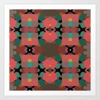 Geometic Crazy Mirror  Art Print