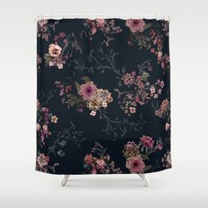 Japanese Boho Floral Shower Curtain