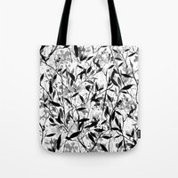 Wandering Wildflowers Black and White Tote Bag