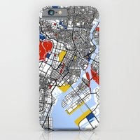 iPhone Cases featuring Tokyo Mondrian by Mondrian Maps