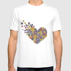 floral heart *in color* Mens Fitted Tee White SMALL